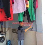 Lắp đặt bộ giàn phơi HP950 nhà chú Cường ngõ 22 phường Lương Khánh Thiện, Hoàng Mai