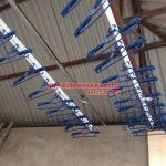Lắp đặt giàn phơi trên nền trần mái tôn nhà anh Vinh số nhà 7A ngõ 85, Hạ Đình