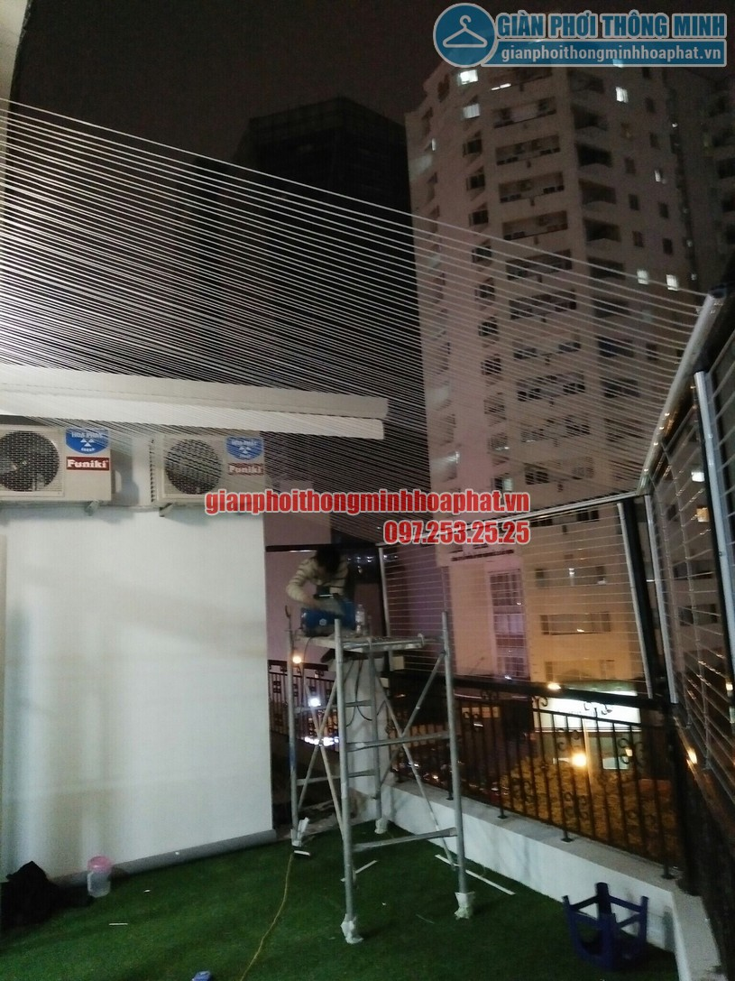 Lắp đặt lưới an toàn ban công tại tầng thượng nhà chú Chiến Ba Đình, Hà Nội-01
