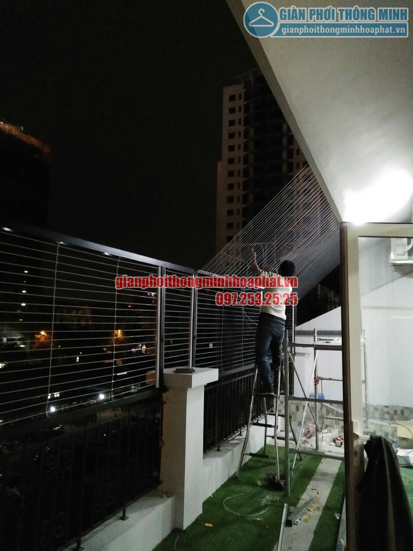 Lắp đặt lưới an toàn ban công tại tầng thượng nhà chú Chiến Ba Đình, Hà Nội-02