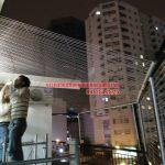 Lắp đặt lưới an toàn ban công tại tầng thượng nhà chú Chiến Ba Đình, Hà Nội