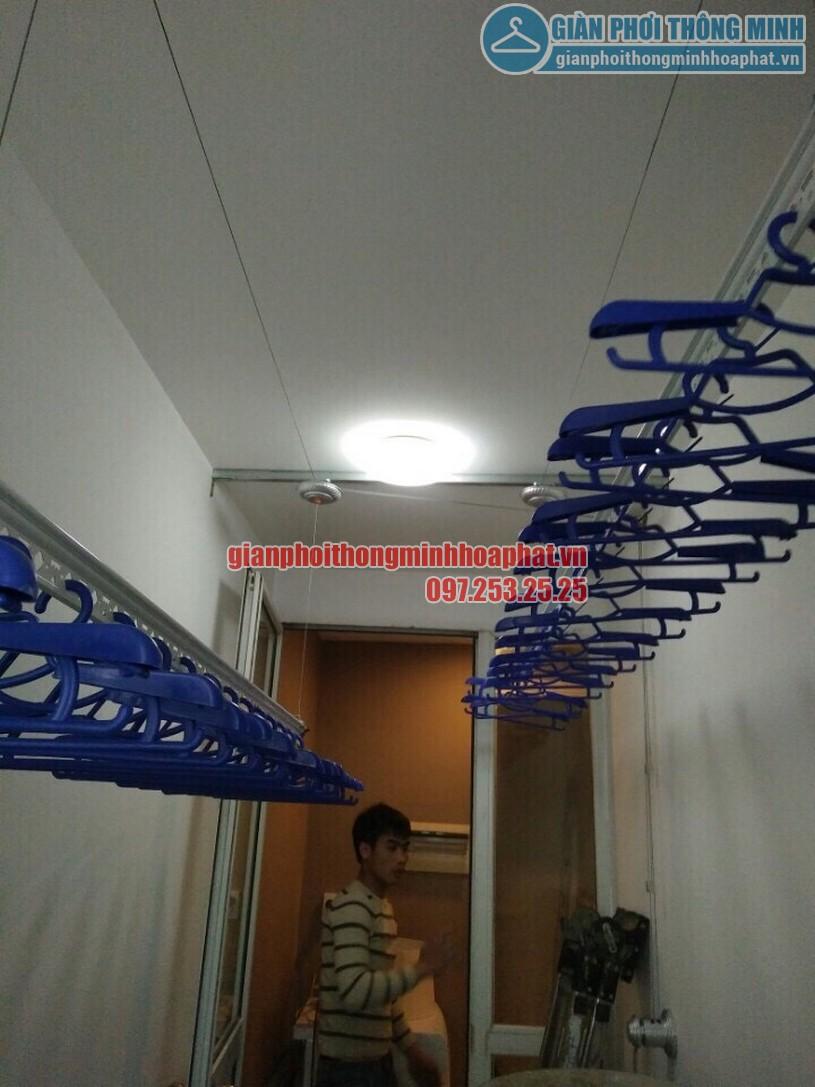 Lắp giàn phơi gắn trần thạch cao nhà anh Chiến quận Hoàng Mai, Hà Nội-03