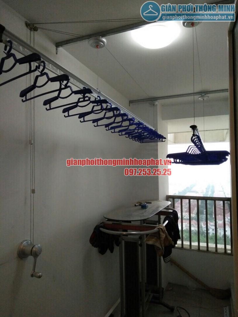 Lắp giàn phơi gắn trần thạch cao nhà anh Chiến quận Hoàng Mai, Hà Nội-05