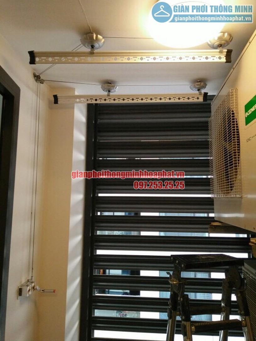 Lắp giàn phơi thông minh nhà chị Chanh chung cư CT1B Nghĩa Đô, Cầu Giấy, Hà Nội-01