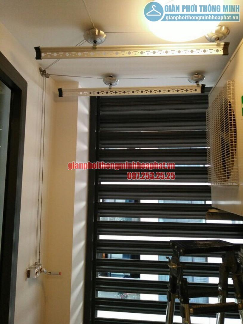 Lắp giàn phơi thông minh nhà chị Chanh chung cư CT1B Nghĩa Đô, Cầu Giấy, Hà Nội-02