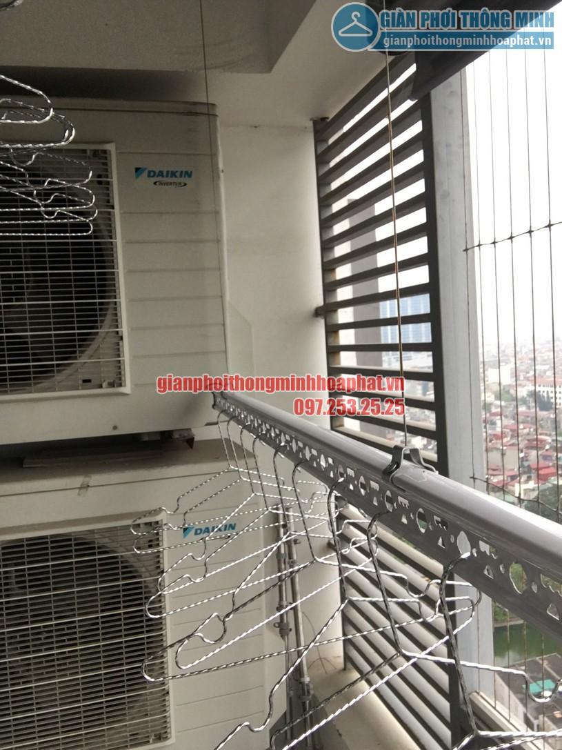 Lắp giàn phơi thông minh nhà cô Lành tòa Mipec Tower 229 Tây Sơn, Đống Đa-03
