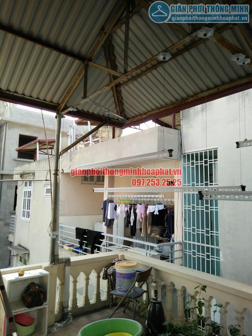 Lắp giàn phơi trên nền trần mái tôn nhà chị Nhung phường Đại Mỗ, Nam Từ Liêm, Hà Nội-02