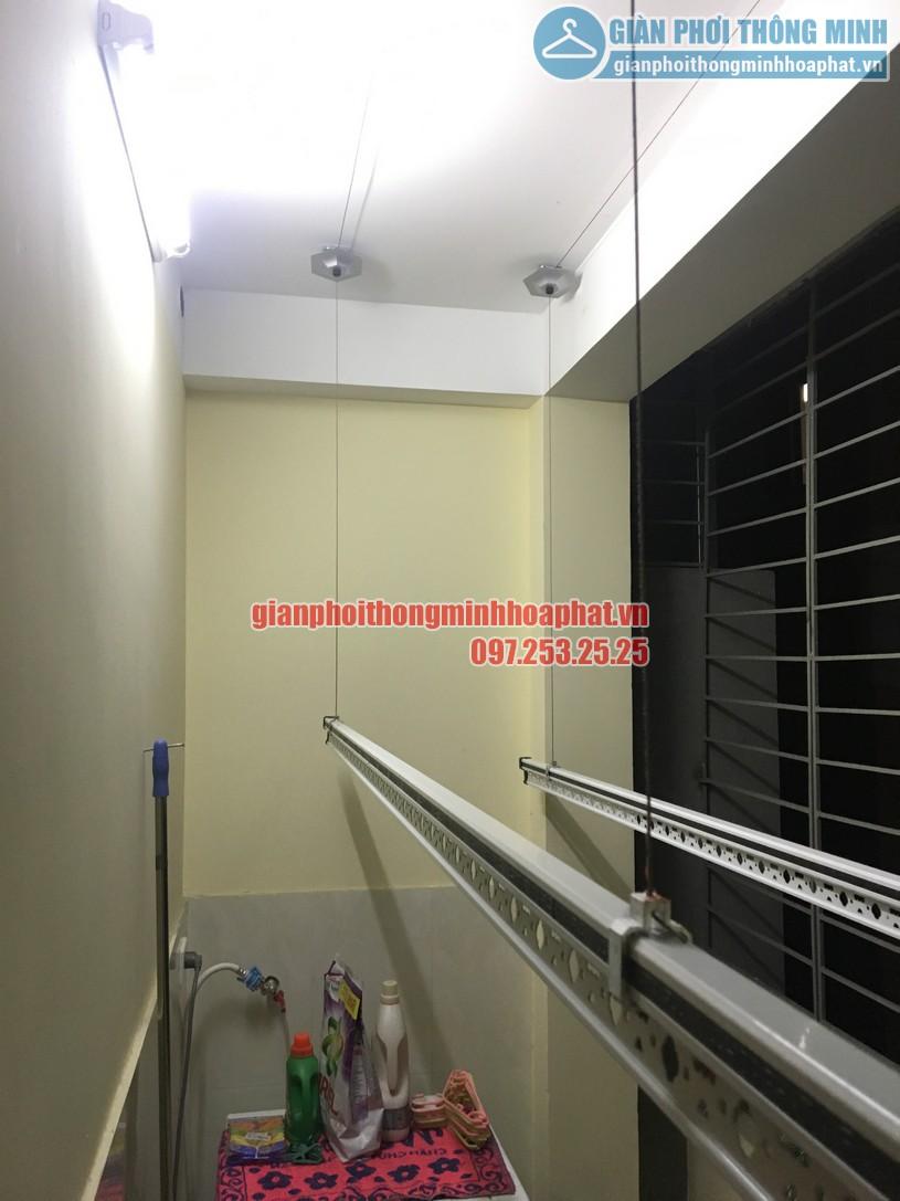 Lô gia thoáng đẹp nhờ lắp giàn phơi nhà anh Tùng ngõ 255 Lĩnh Nam, Hoàng Mai, Hà Nội-01
