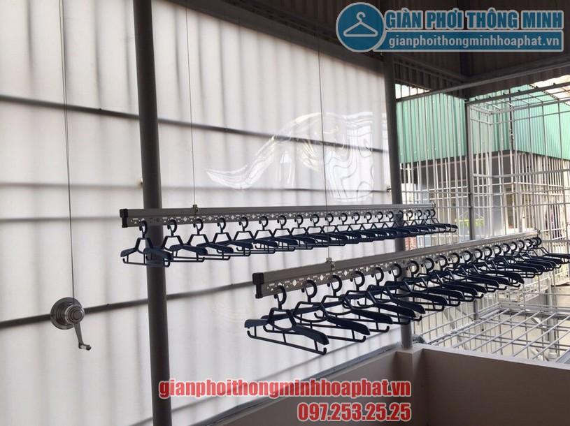 Thi công lắp đặt giàn phơi tại trần mái tôn nhà anh Tam ngõ 8 Tô Hiệu, Nguyễn Trãi, Hà Đông-02