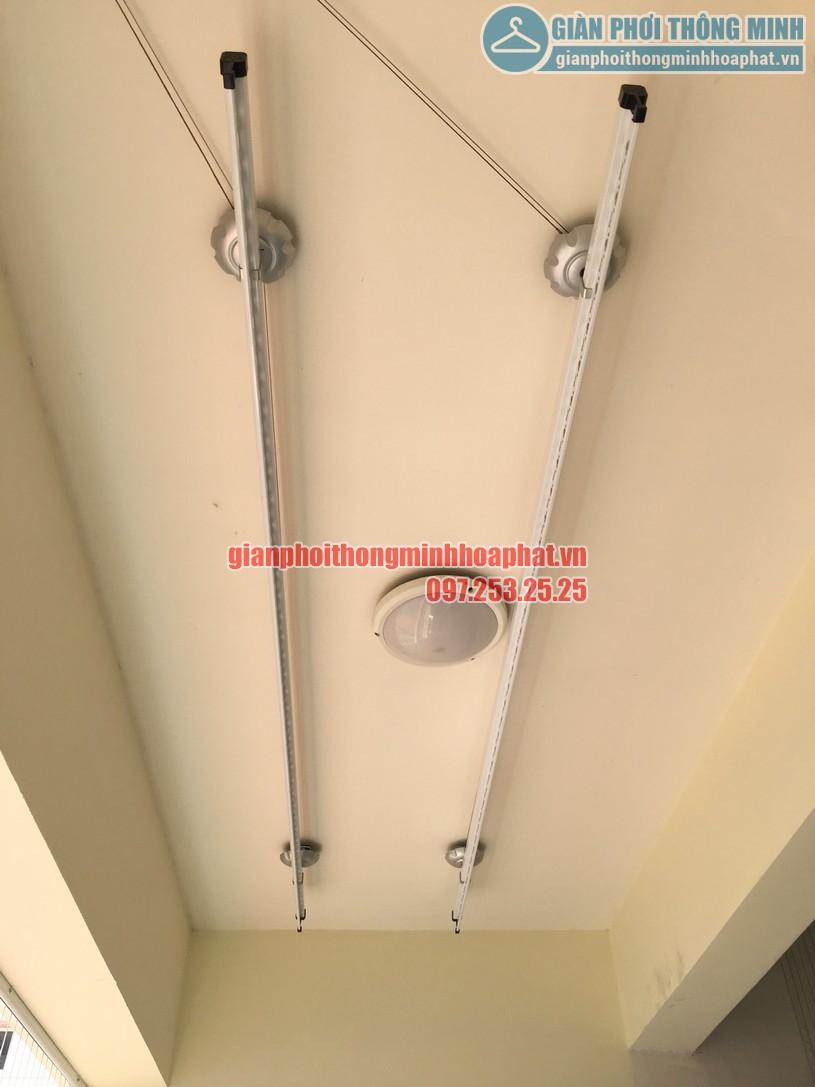 Lắp giàn phơi thông minh kết hợp lưới an toàn ban công nhà chị Hà, Trần Đăng Ninh-03
