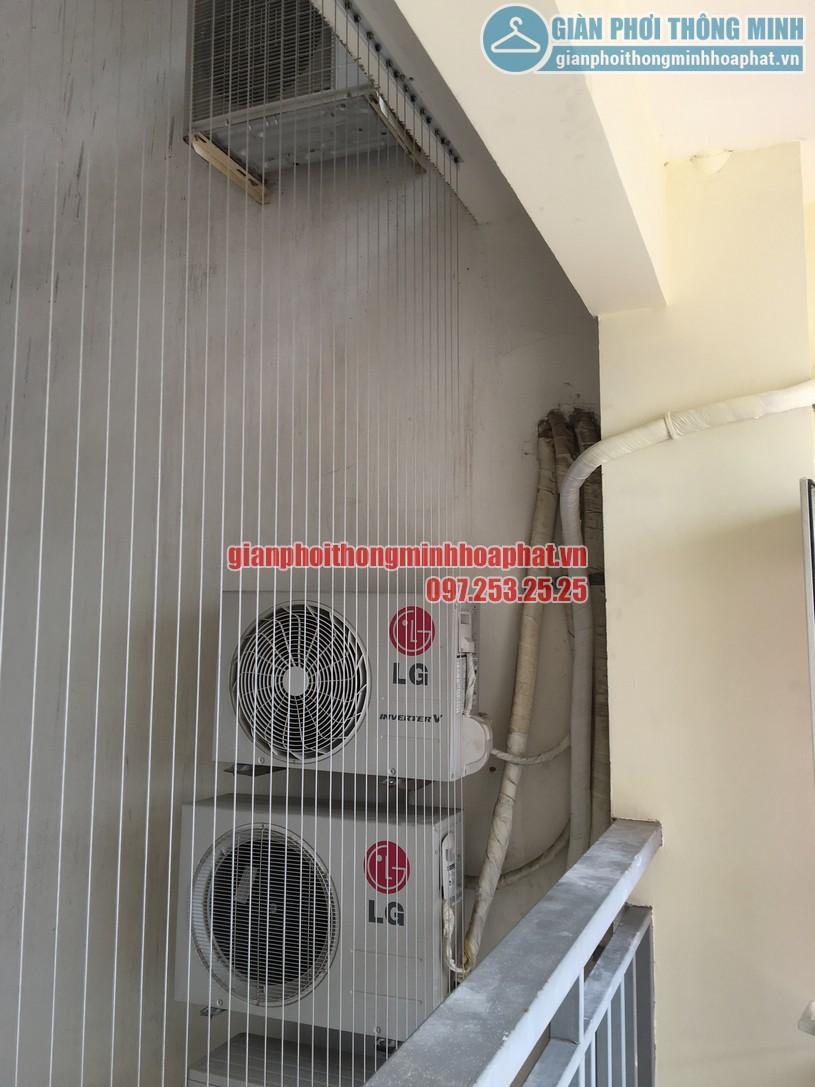 Cận cảnh lưới an toàn được lắp đạt tại nhà chị Hà