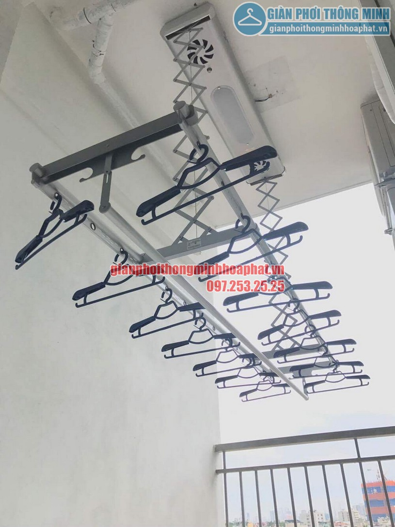 Lắp đặt bộ giàn phơi điều khiển từ xa nhà anh Thiện Chính Kinh-03