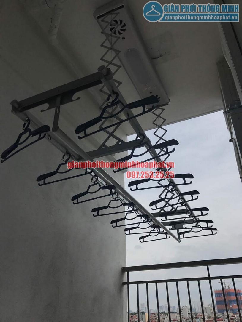 Lắp đặt bộ giàn phơi điều khiển từ xa nhà anh Thiện Chính Kinh-02