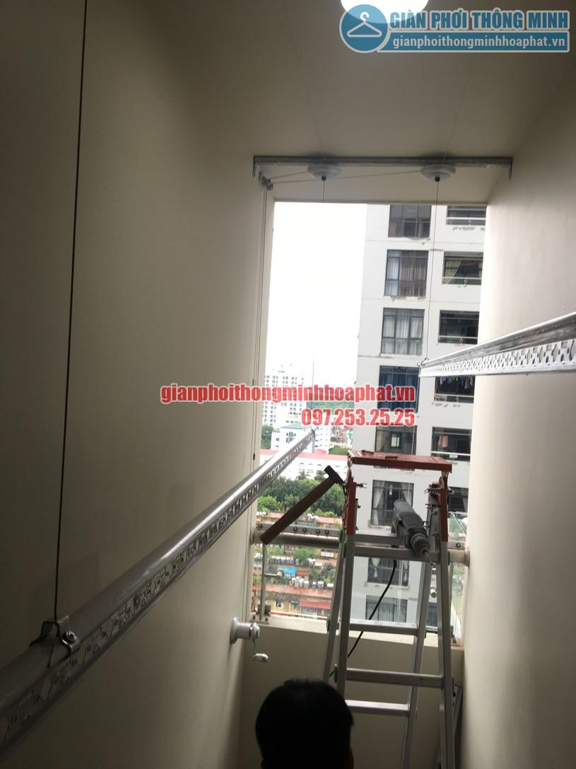 Lắp giàn phơi nhà anh Trung phòng 1606, tòa CT2B, chung cư Tràng An -03