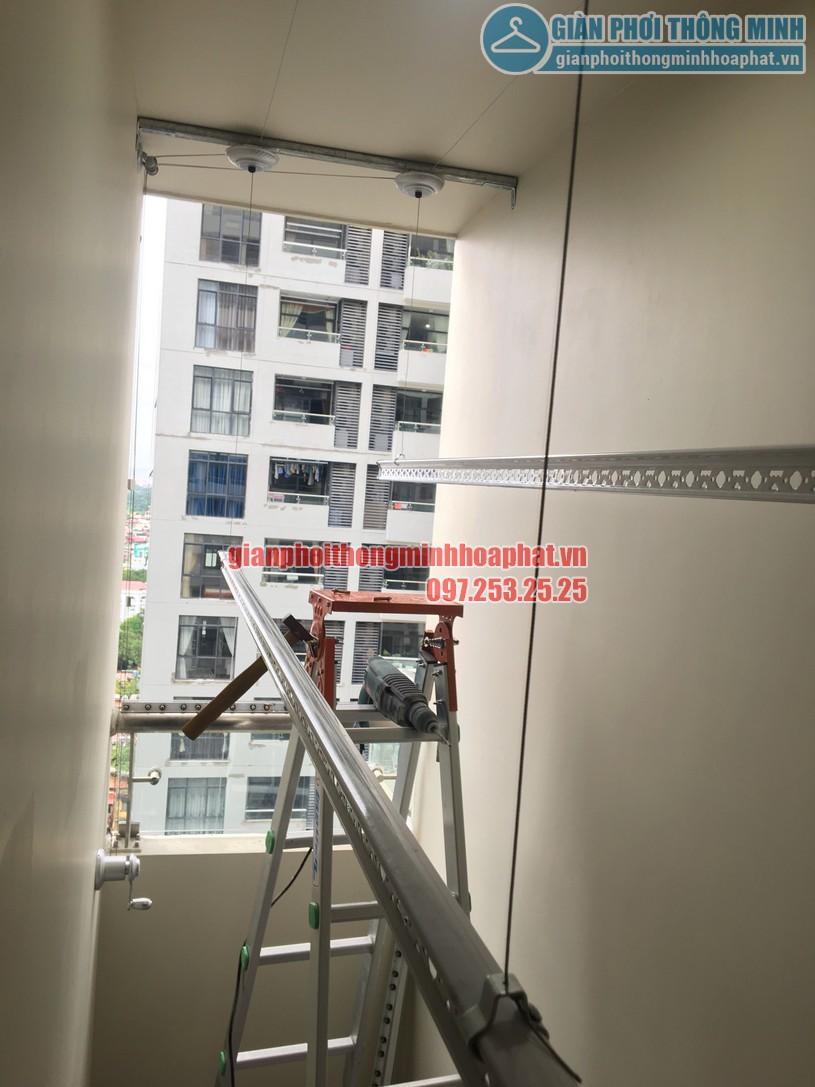 Lắp giàn phơi nhà anh Trung phòng 1606, tòa CT2B, chung cư Tràng An -04