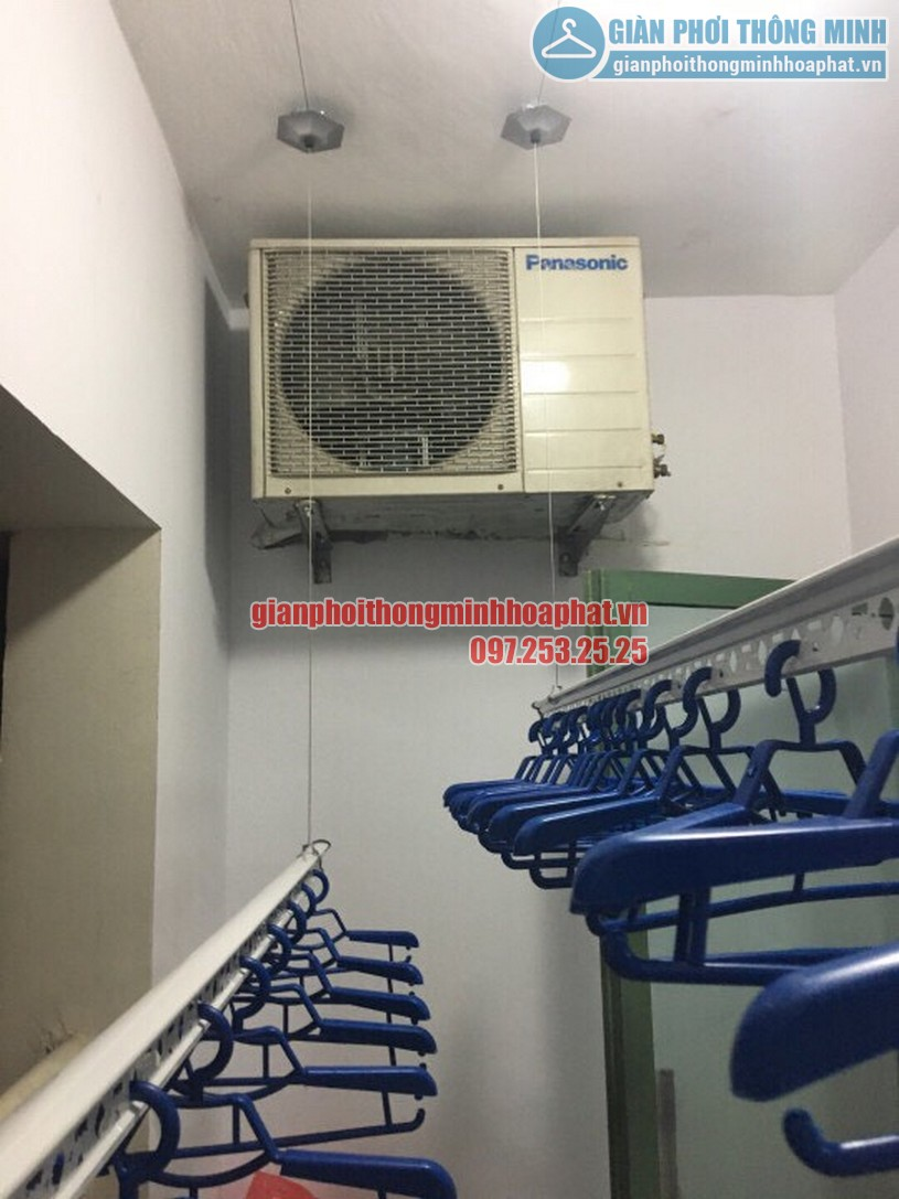Lắp đặt giàn phơi thông minh nhà anh Trung R4 tòa Goldmark City, 136 Hồ Tùng Mậu-06