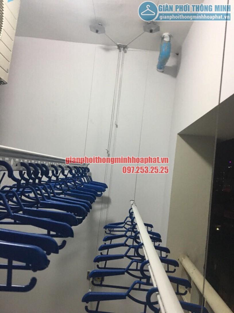 Lắp đặt giàn phơi thông minh nhà anh Trung R4 tòa Goldmark City, 136 Hồ Tùng Mậu-05
