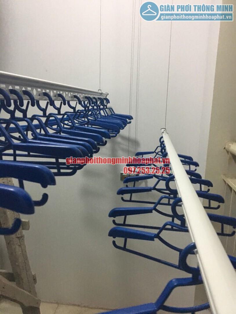 Lắp đặt giàn phơi thông minh nhà anh Trung R4 tòa Goldmark City, 136 Hồ Tùng Mậu-04