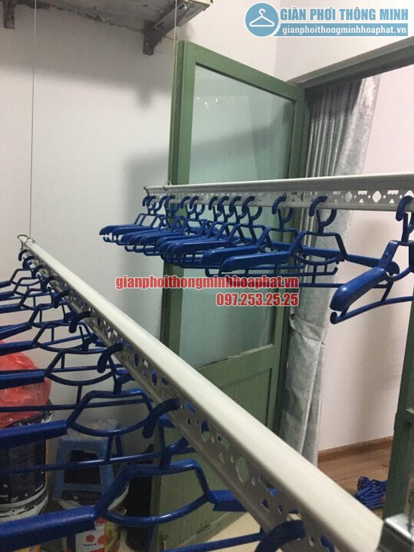 Lắp đặt giàn phơi thông minh nhà anh Trung R4 tòa Goldmark City, 136 Hồ Tùng Mậu-02