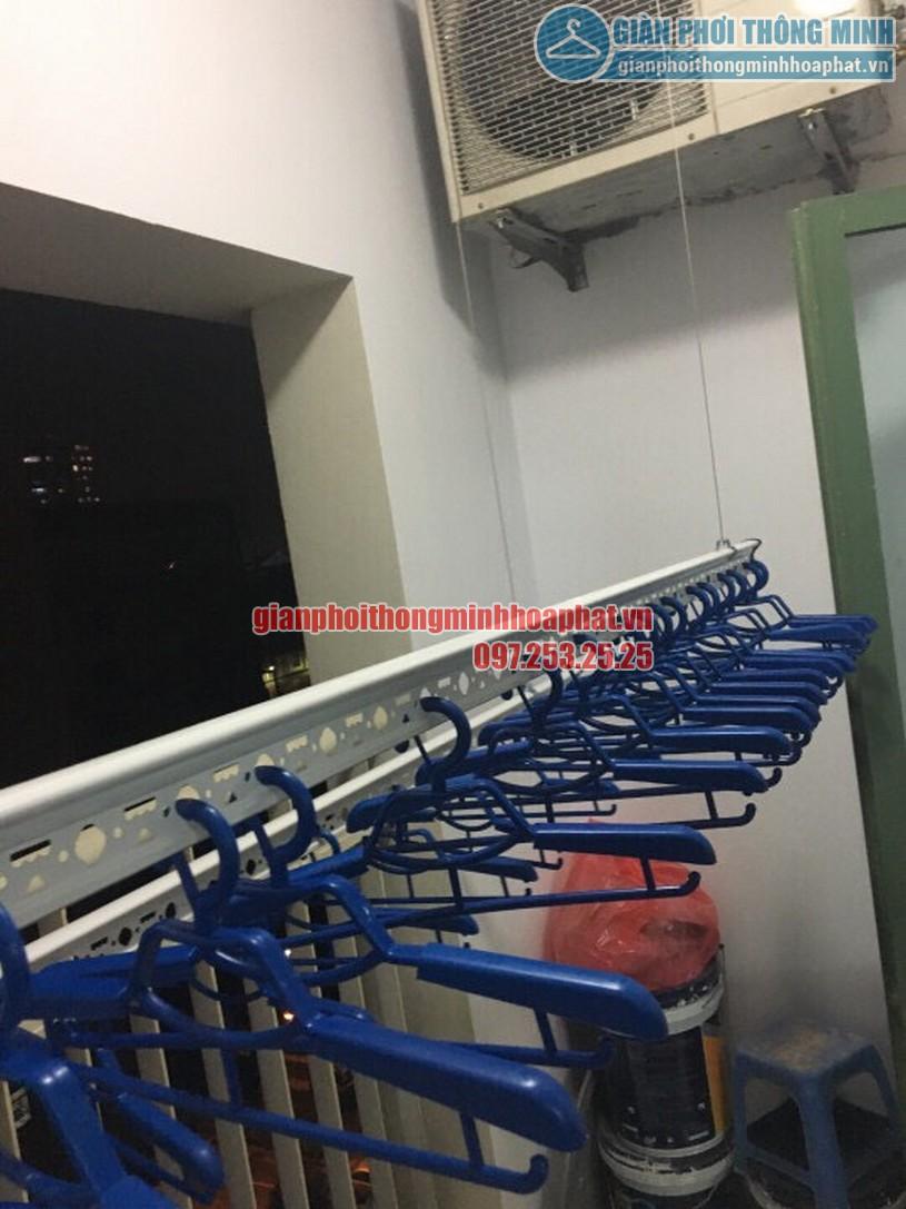 Lắp đặt giàn phơi thông minh nhà anh Trung R4 tòa Goldmark City, 136 Hồ Tùng Mậu-01