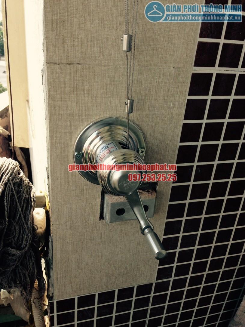 Lắp giàn phơi tại ban công nhà chị Chinh chung cư CT1A, Mỹ Đình 2-03