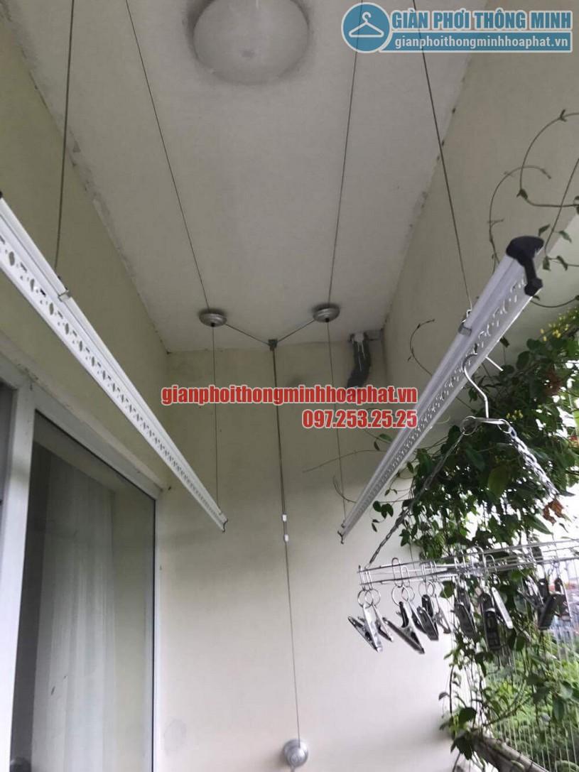 Lắp giàn phơi nhà cô Hương chung cư Viện 103, Văn Quán, Hà Đông- 09