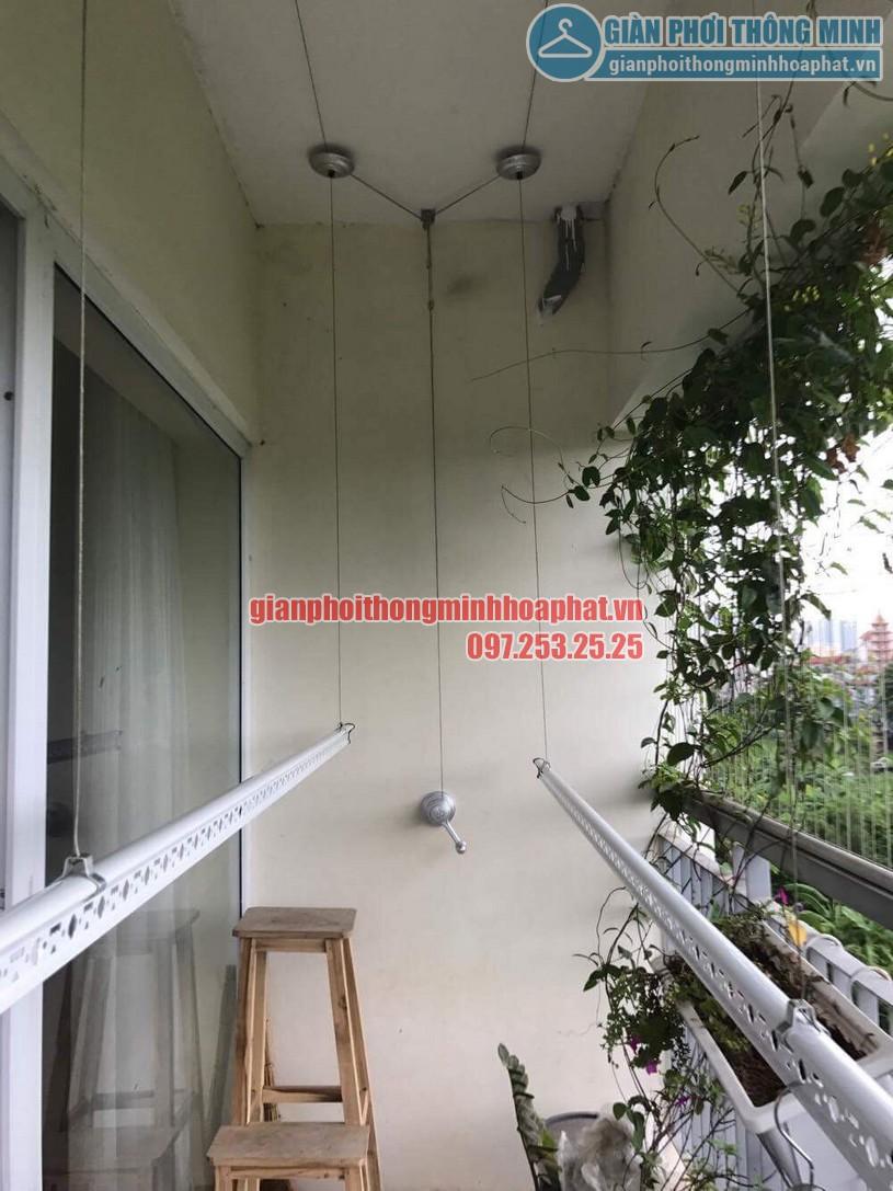 Lắp giàn phơi nhà cô Hương chung cư Viện 103, Văn Quán, Hà Đông- 08