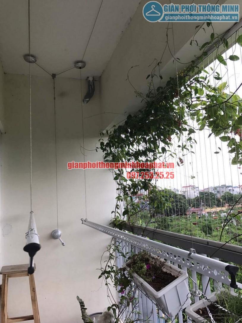 Lắp giàn phơi nhà cô Hương chung cư Viện 103, Văn Quán, Hà Đông- 07