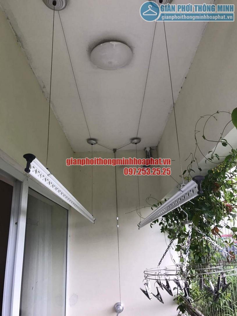 Lắp giàn phơi nhà cô Hương chung cư Viện 103, Văn Quán, Hà Đông- 11