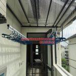 Lắp giàn phơi cho mái kính nhà anh Sáng khu LK32- Vinhomes Thăng Long – Hà Nội