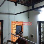 Lắp bộ giàn phơi HP950 tại trần mái tôn nhà anh Trung Thái Phiên, Lê Đại Hành, Hai Bà Trưng