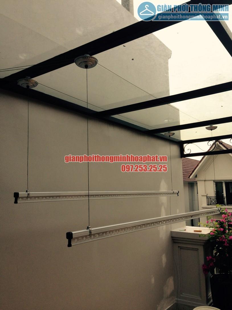 Bàn giao bộ giàn phơi HP990 nhà chị Linh tại khu biệt thự sinh thái Vinhomes Riverside, Long Biên