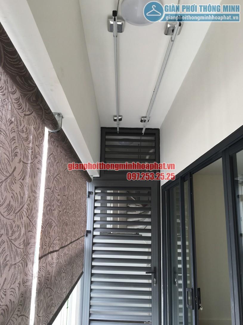Lắp giàn phơi kết hợp lưới an toàn nhà anh Hữu chung cư Imperia Garden 143 Nguyễn Tuân-01