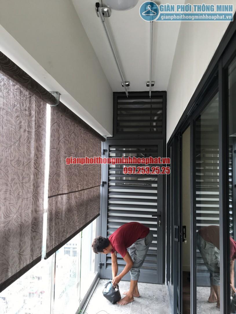 Lắp giàn phơi kết hợp lưới an toàn nhà anh Hữu chung cư Imperia Garden 143 Nguyễn Tuân-02