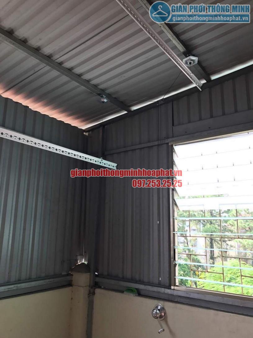 Lắp đặt giàn phơi HP990 cho trần mái tôn nhà anh Sơn ngõ 409 Kim Mã-01