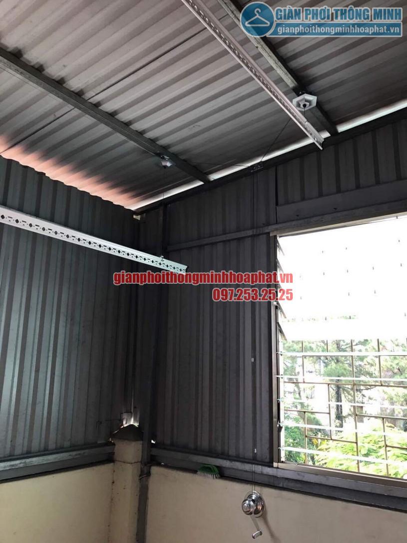 Lắp đặt giàn phơi HP990 cho trần mái tôn nhà anh Sơn ngõ 409 Kim Mã-02