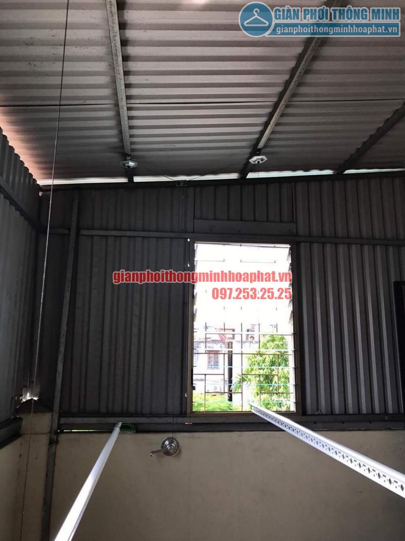 Lắp đặt giàn phơi HP990 cho trần mái tôn nhà anh Sơn ngõ 409 Kim Mã-04