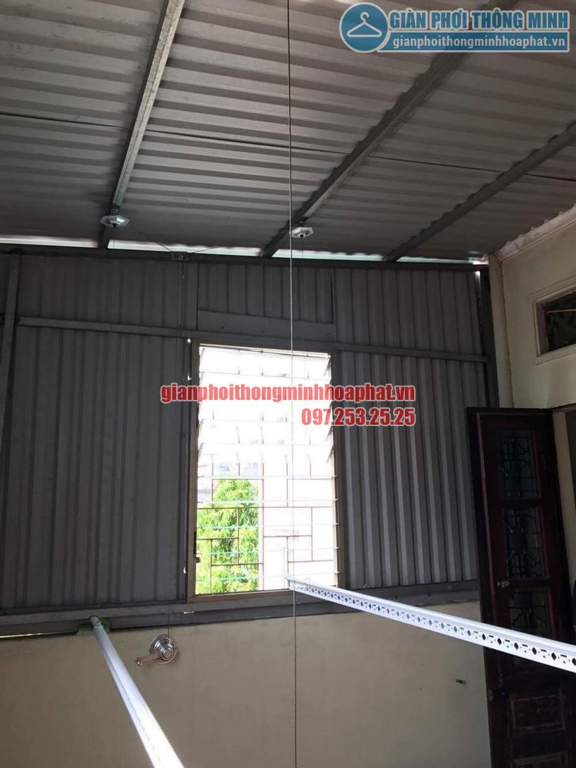 Lắp đặt giàn phơi HP990 cho trần mái tôn nhà anh Sơn ngõ 409 Kim Mã-05
