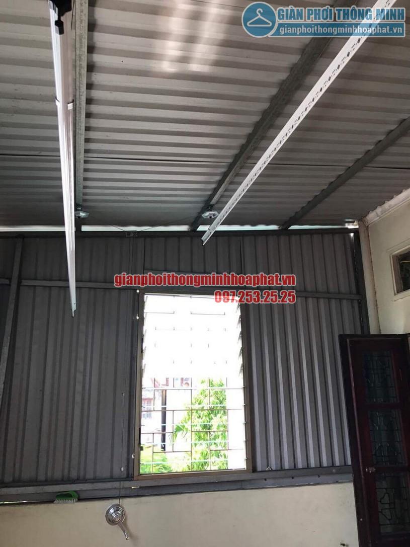 Lắp đặt giàn phơi HP990 cho trần mái tôn nhà anh Sơn ngõ 409 Kim Mã-08