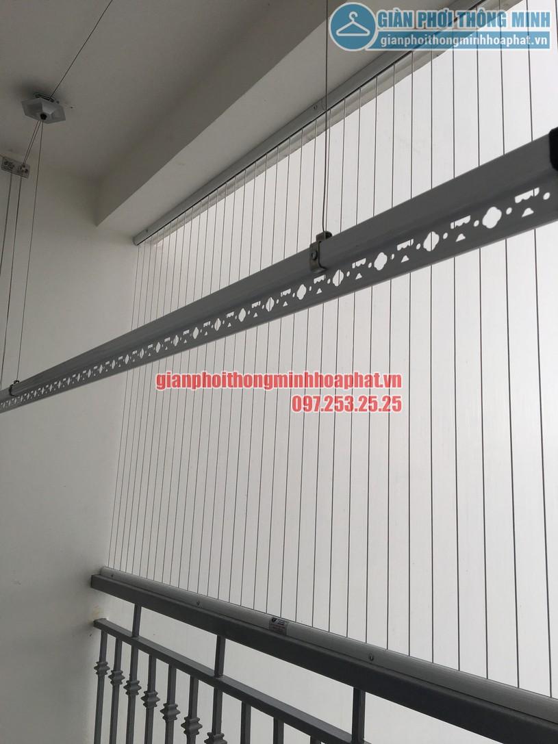 Lắp giàn phơi kết hợp lưới an toàn ban công nhà chị Phương Park 6, Park Hill-02