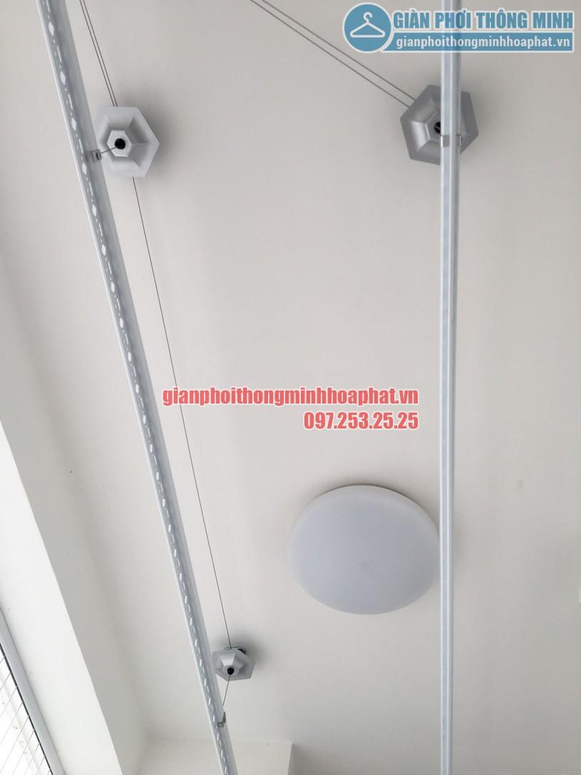 Lắp giàn phơi kết hợp lưới an toàn ban công nhà chị Phương Park 6, Park Hill-03
