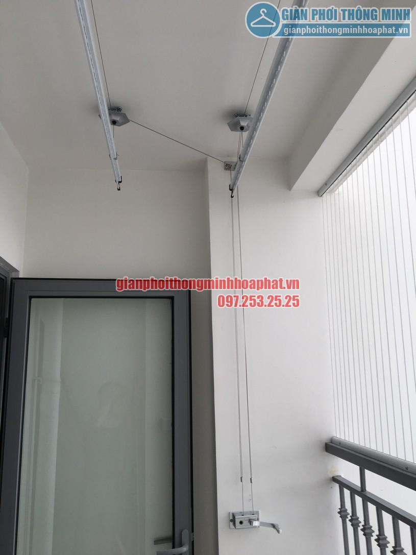 Lắp giàn phơi kết hợp lưới an toàn ban công nhà chị Phương Park 6, Park Hill-04