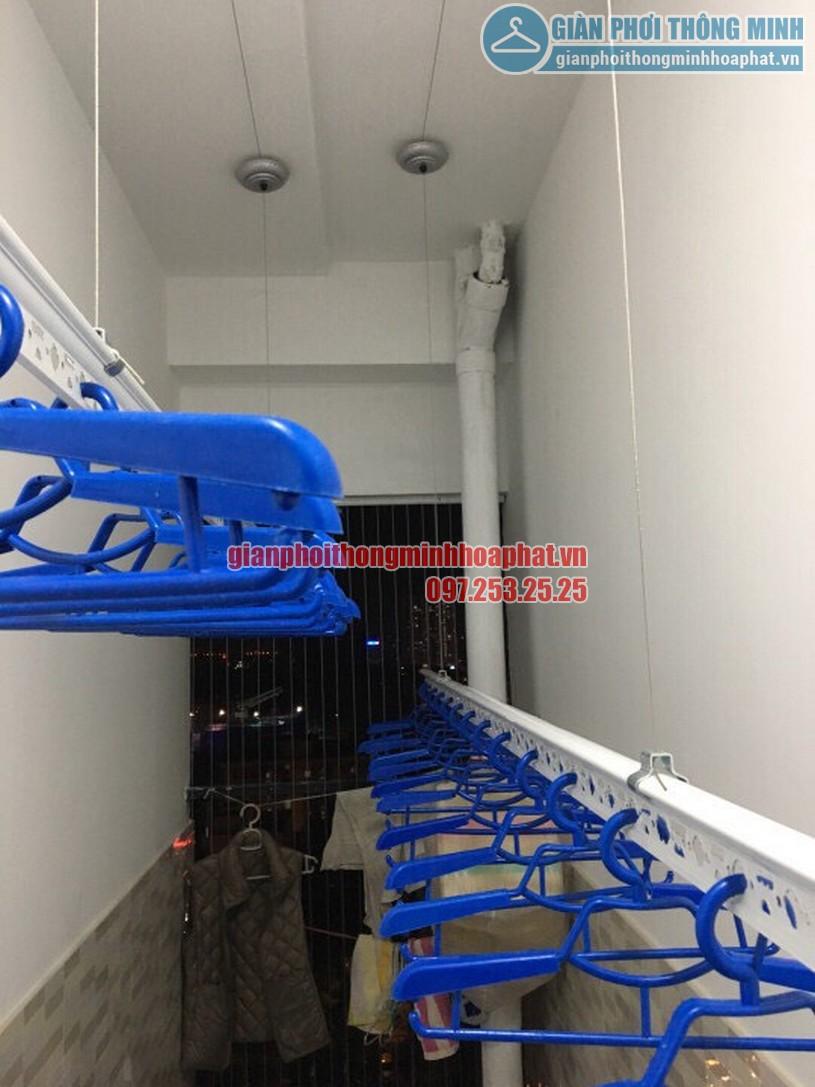 Bộ giàn phơi thông minh nhà chị Lan phòng 408 chung cư Goldmark City-01
