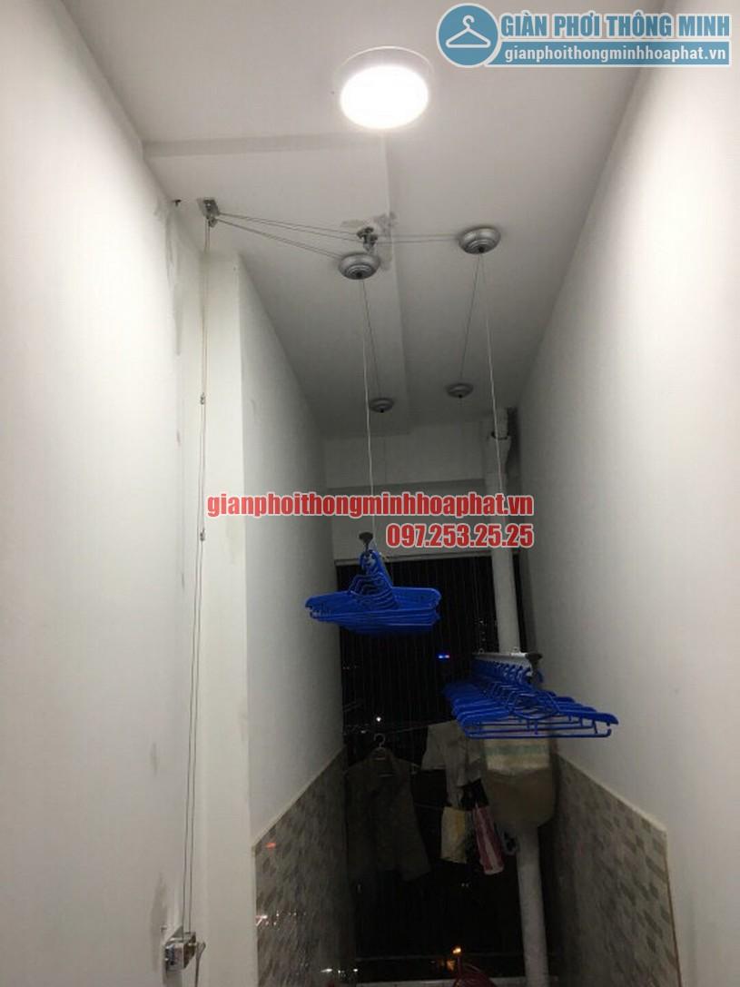 Bộ giàn phơi thông minh nhà chị Lan phòng 408 chung cư Goldmark City-02