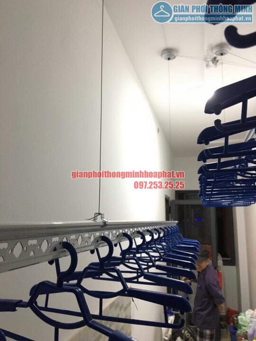 Bộ giàn phơi thông minh nhà chị Lan phòng 408 chung cư Goldmark City-04