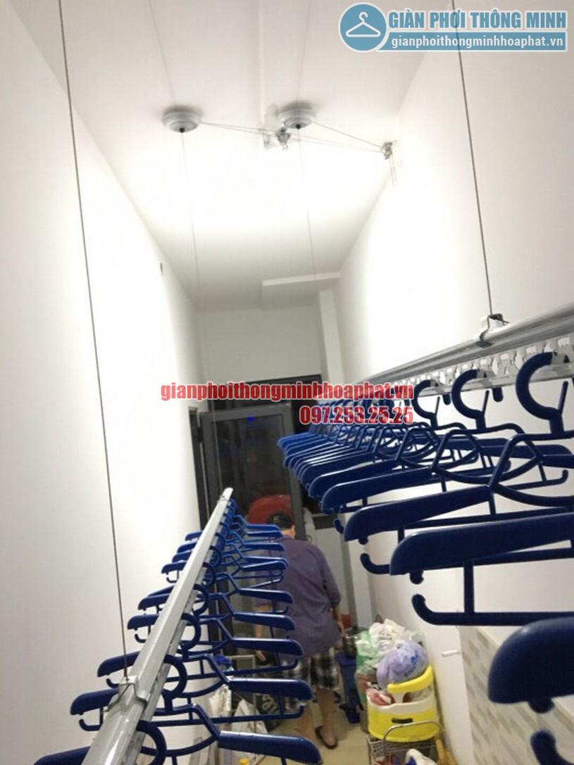 Bộ giàn phơi thông minh nhà chị Lan phòng 408 chung cư Goldmark City-05