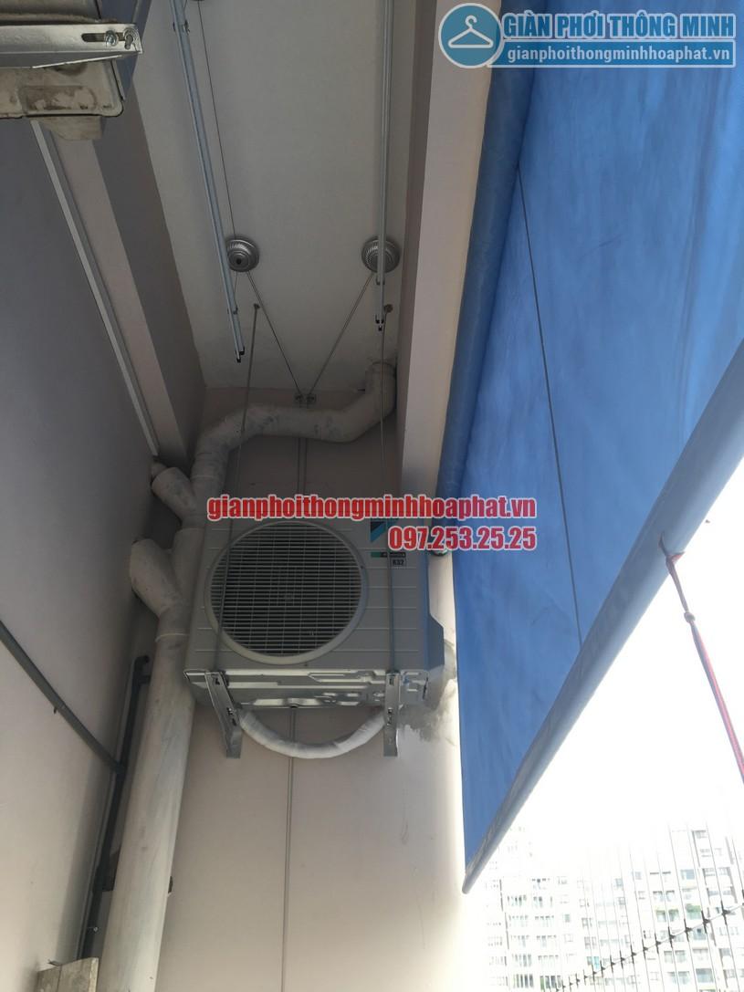 Lắp giàn phơi kết hợp lưới an toàn ban công nhà cô Phương ngõ 168 Trung Kính-03