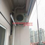 Lắp giàn phơi kết hợp lưới an toàn ban công nhà cô Phương ngõ 168 Trung Kính, Yên Hòa, Cầu Giấy