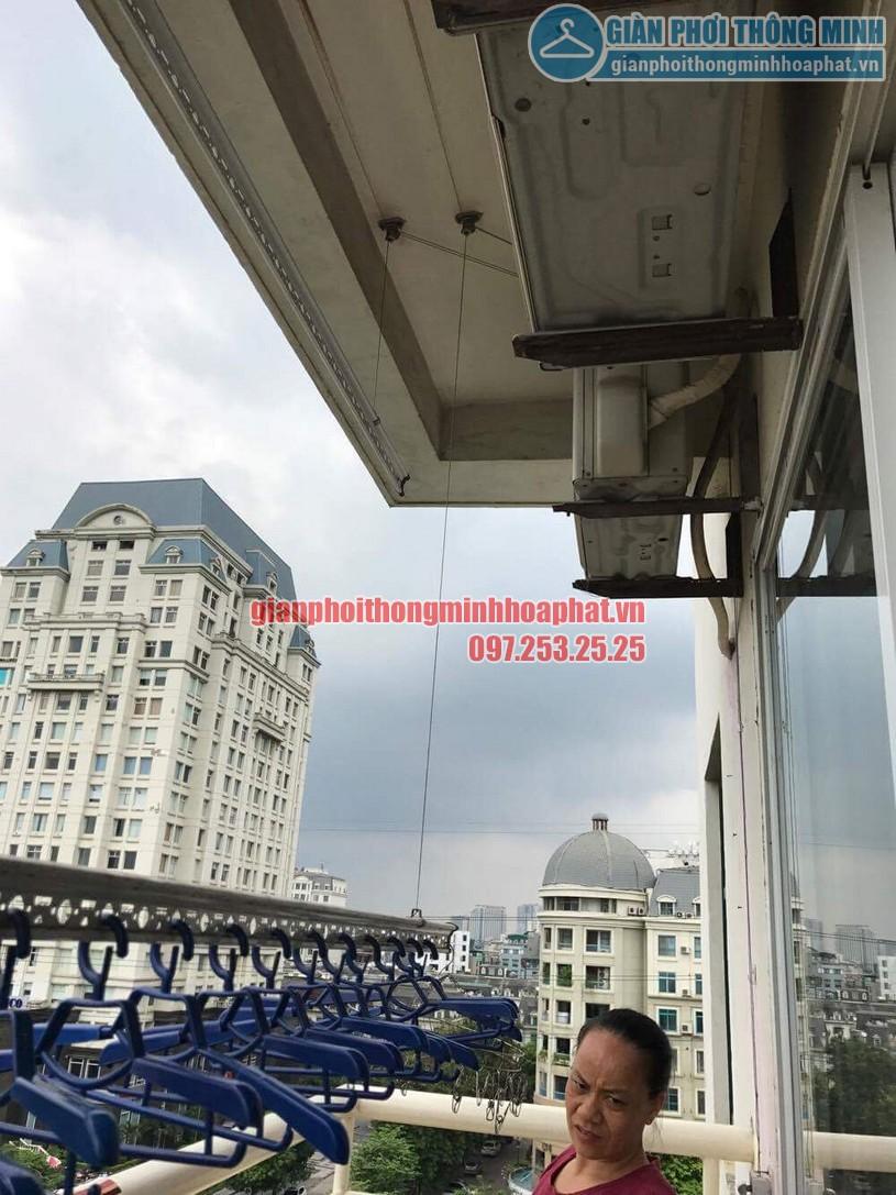 Sửa lỗi đứt dây cáp giàn phơi nhà cô Dĩnh CT2-2 khu đô thị Mễ Trì Hạ-04