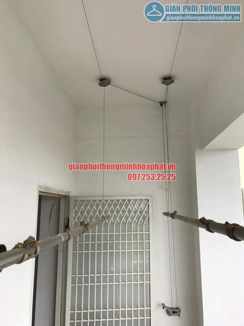Thay dây cáp giàn phơi thông minh nhà anh Thiện, phường Ngọc Lâm, Long Biên-03
